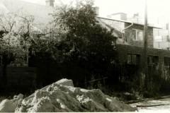 Rozbudowa plebani od strony szkoły - wrzesień 1985